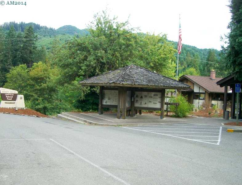 The Tiller Ranger Station in Tiller, Oregon.